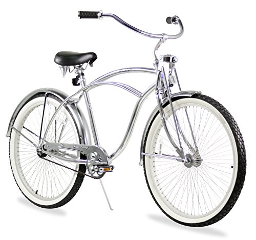 Firmstrong Urban Man LRD Single Speed Beach Cruiser Bicycle, 26-Inch, Chrome