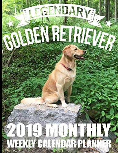 Legendary Golden Retriever 2019 Monthly Weekly Calendar Planner: Purebred Dog Lovers Cute Schedule Organizer (Dogs and Cats 2019 Organizer Planners)