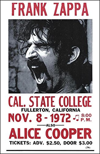 Frank Zappa Vintage Style Concert Poster