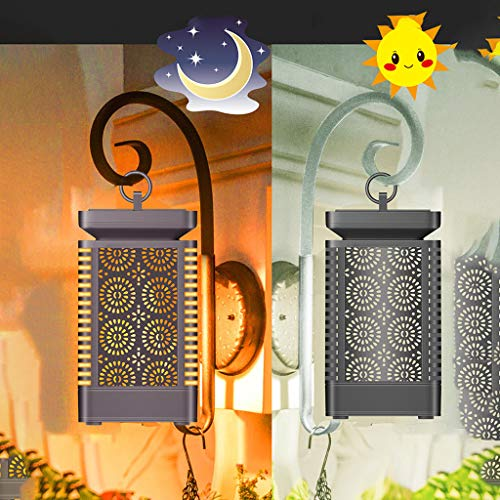 SAYEI Solar LED Chandelier Outdoor Waterproof Garden Landscape Light Lawn Light Hanging Lamp Simple and Beautiful Hardware + PC + ABS + Electronic Components Patio,Yard Decoration Latern