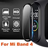 ValueActive Full Coverage Anti Bubble Front Screen Scratch Guard Protector Compatible with Xiaomi Mi Band 4 2019