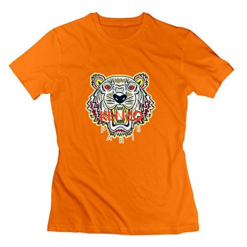 kenzo-brand-womens-tshirt-tee-xxlorange