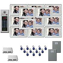 Multitenant Video Intercom 12 seven inch color monitor door panel kit