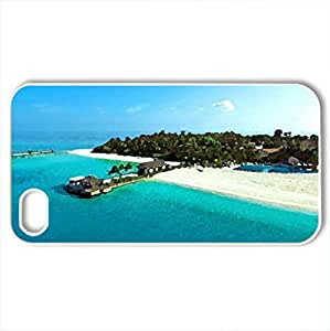 Secret place - Case Cover for iPhone 4 and 4s (Beaches Series, Watercolor style, White)