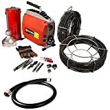 Steel Dragon Tools K60 Sectional Drain Pipe Cleaning Machine fits RIDGID C1 (5/16''), C8 (5/8'') Cable