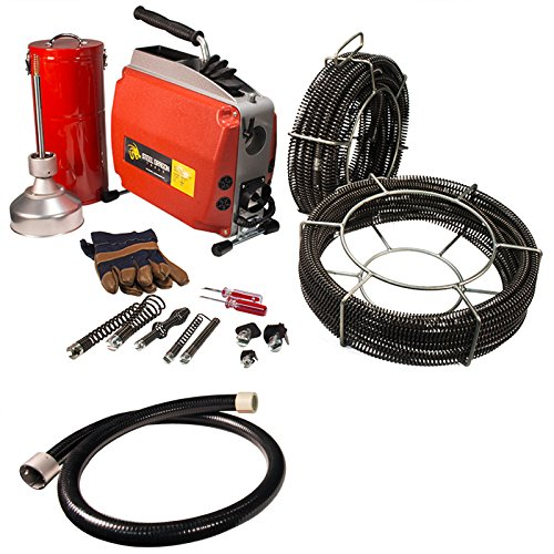 Steel Dragon Tools K60 Sectional Drain Pipe Cleaning Machine fits RIDGID C1 (5/16in.) C8 (5/8in.) Cable