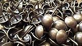 UFFY - 1,000PCS - 7/16'' x 1/2'' Decorative Tack Nails Antique Brass Finish