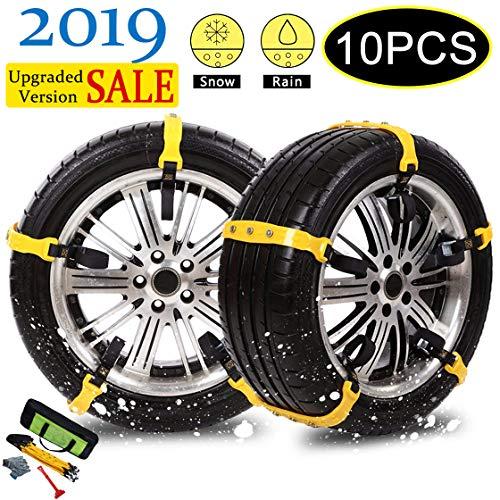 Garne-T Anti Slip Tire Chains Snow Tire Chains Car Emergency Thickening Anti-Skid...