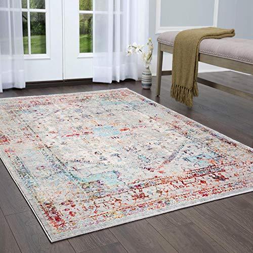 (Home Dynamix 858-573 Vision Lelia Area Rug Gray/Ivory/Blue)