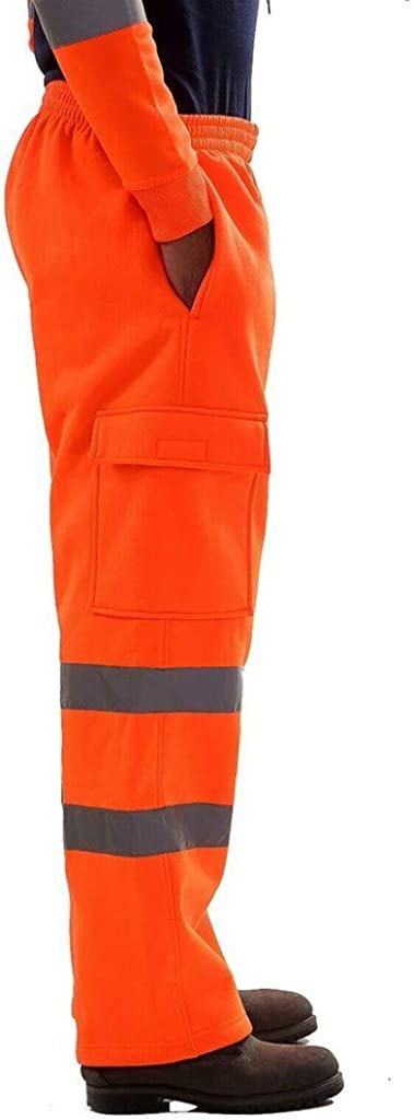 TEFAMORE La Route des Hommes Travail Haute visibilit/é Salopette Pantalon d/écontract/é Pantalon d/écontract/é de Travail de Poche