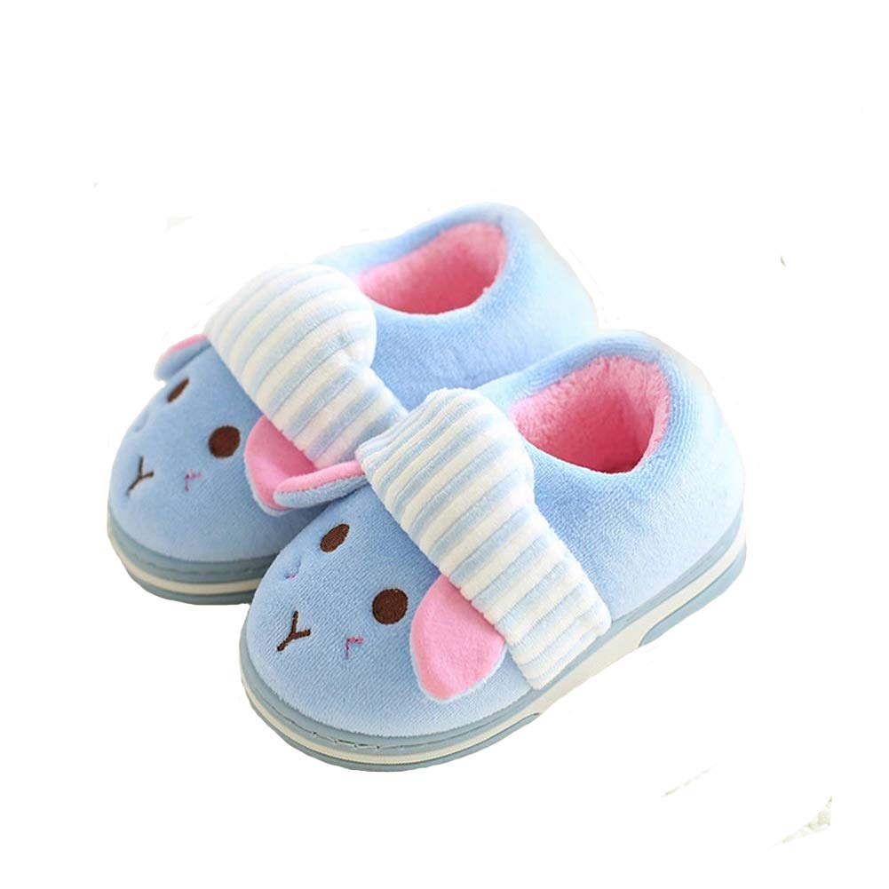 Toddler//Little Kid LKPR Aelph Comfy Cute Kids House Slippers Fur Lined Indoor Outdoor Winter Warm Slippers Boys Girls