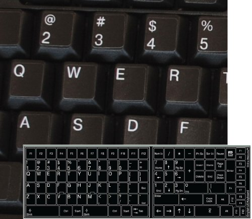 REPLACEMENT ENGLISH KEYBOARD STICKER BACKGROUND product image