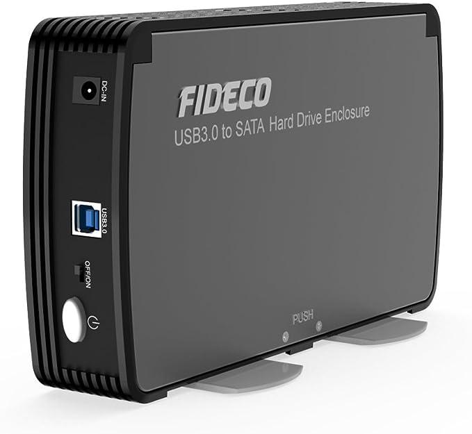 Carcasa Disco Duro Externo, FIDECO Caja Disco Duro USB 3.0 con OTB ...