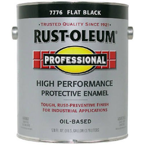 RUST-OLEUM 7776-402 Professional Gallon Flat Black Enamel