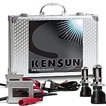 Kensun HID Xenon Conversion Kit All Bulb Sizes and Colors with Premium Ballasts - H4 (HB2) (9003) Bi-Xenon - 6000k - 2 Year Warranty by Kensun