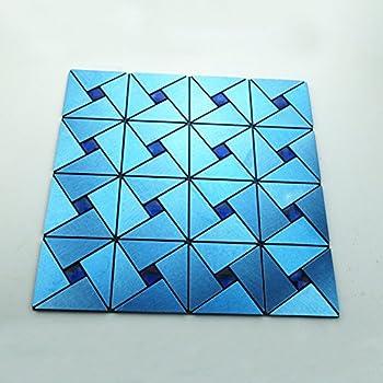 Yazi 12 Quot X 12 Quot Peel Amp Stick Metal Decorative Wall Tile