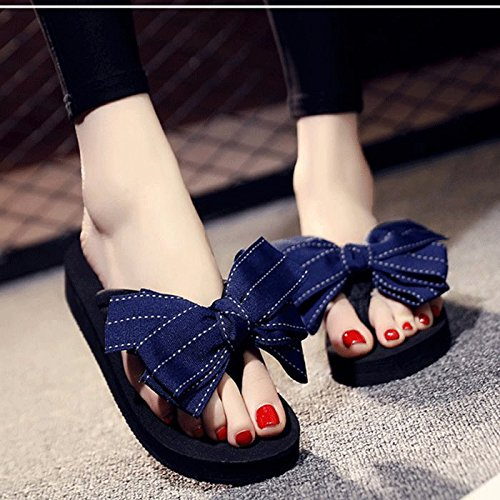 exterior SCLOTHS Blue desgaste Mujer turismo seaside Chanclas Holiday ppnwqWvZ8
