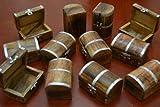 12 Pcs Pirate Treasure Chest Jewelry Trinket Wood Box