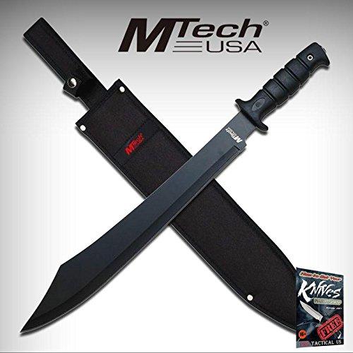 FIXED BLADE MACHETE Mtech Pirate Cutlass Blade Black Tactical Combat MT-20-07M + free eBook by ProTactical'US