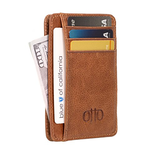 Otto Genuine Leather Wallet - Bank Cards, Money, Driver's License - Unisex -