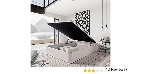Zeng Canapé de Polipiel Abatible de Gran Capacidad. Color Blanco (150_x_190): Amazon.es: Hogar