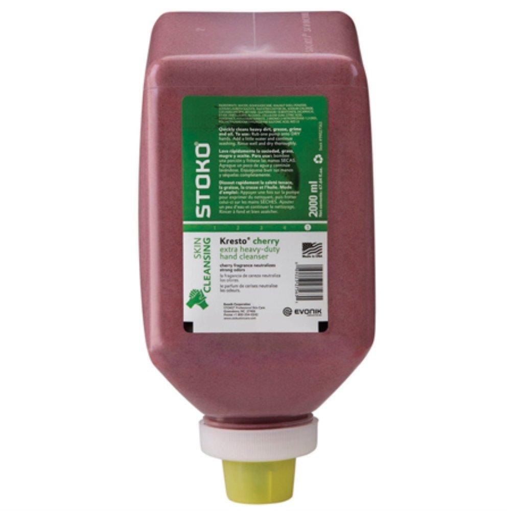 Deb Group Kresto Cherry Hand Cleaner, 2000 mL Soft Bottle (6 Pack) by Stoko