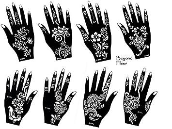 henna tattoo schablone vorlage 8 sheet fleur 8 henna bemalung - Henna Tattoo Muster