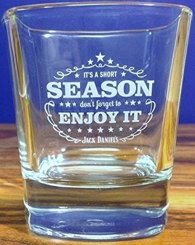 Jack Daniels Glass Tumbler - Its a Short Season Enjoy It