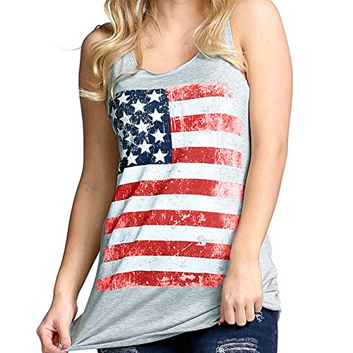 Women Summer Tank Top Sale,KIKOY National Flag Print Sexy Vest Blouse T-Shirt ()