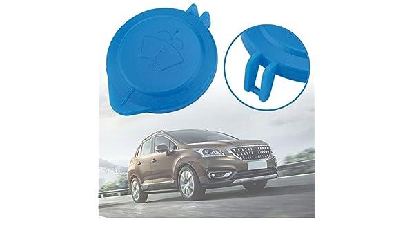 Gugutogo Cap Lid Wiper Clean Depósito de líquido parabrisas para Peugeot para Citroen (Color azul): Amazon.es: Coche y moto