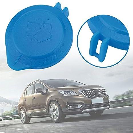Gugutogo Cap Lid Wiper Clean Depósito de líquido parabrisas para Peugeot para Citroen (Color azul