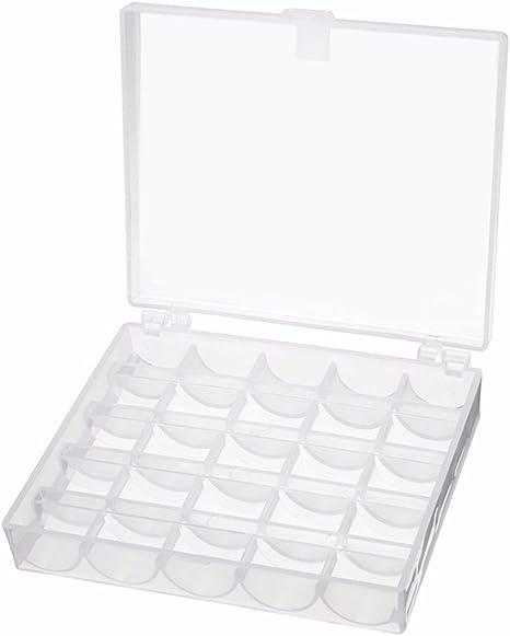 25 bobinas para m/áquina de coser para cantante hermano Janome de pl/ástico transparente para m/áquina de coser en caja