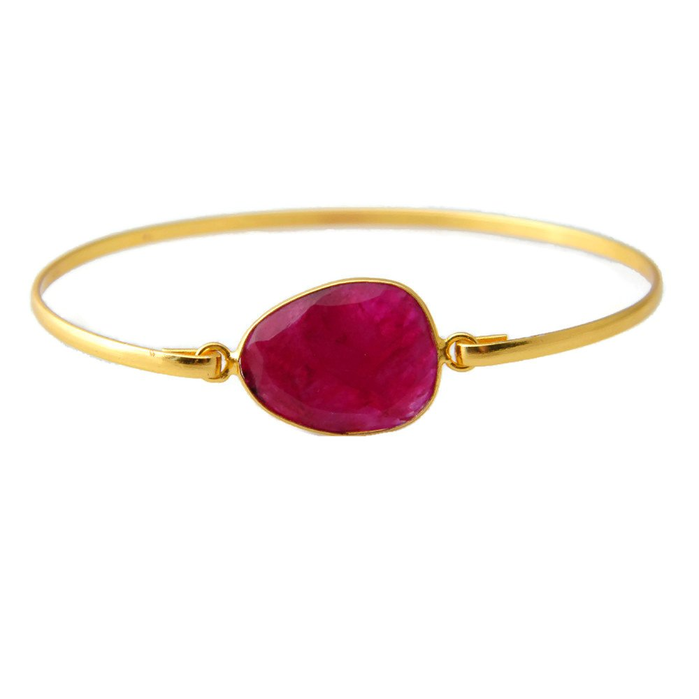 Bronze Bracelet AH-8185 Gold Tone Jewelry Gemstone Bracelet Jewelry Surbhi Crafts Pink Ruby Beryl Bracelet