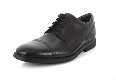 Rockport Mens Dressports Modern Cap Toe Black Oxford - 7.5 W