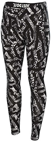 Nike Women's Leg A See All Over Printed Casual Tights-Black/White-Medium