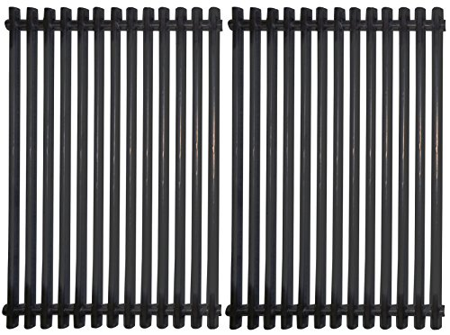 Music City Metals 53812 Stamped Porcelain Steel Cooking Grid Replacement for Select Gas Grill Models by Kalamazoo, Kenmore and Others, Set of 2 (Bar Set Kmart Patio)