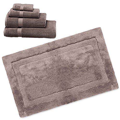 Wamsutta 805 Turkish Cotton Bath Towel Set with Bath Rug (Linen, 30''x48'') by Wamsutta