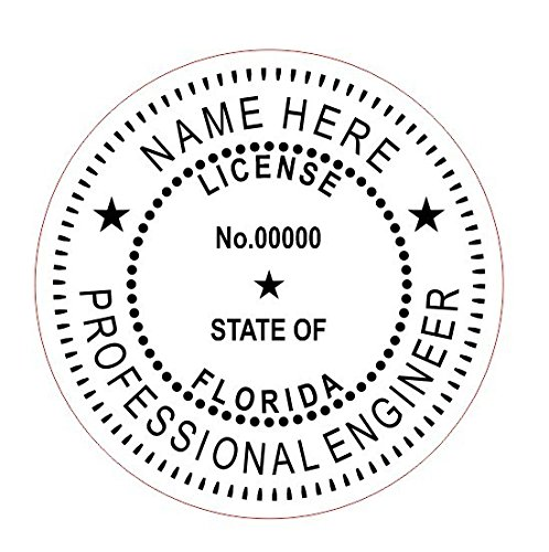 Florida - Professional Self-Inking Round Engineer Stamp; by Imprue