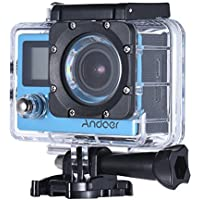 Andoer 2.0in LCD WiFi 4K Waterproof Sports Action Cam Full HD 1080P 60fps 16MP Motion Cam 170 Degree 4X Zoom Dual Screen Helmet Bike Car DV Cam Camcorder