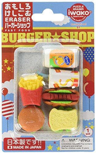 Iwako Fast Food Burger Shop Eraser