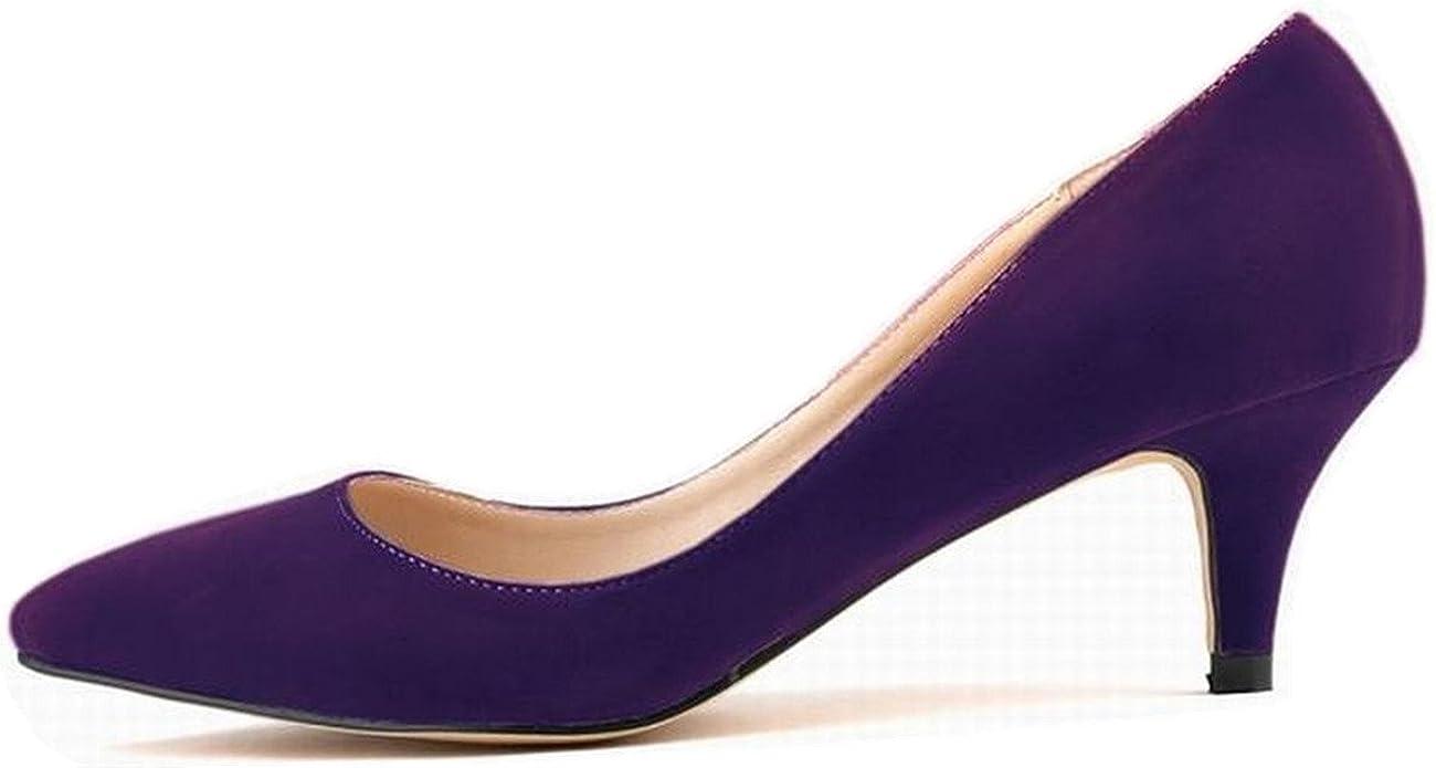 Low Heel Purple Dress Shoes