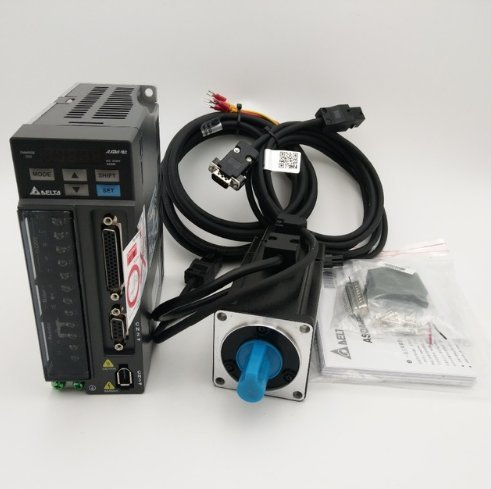 Delta 400W Servo Motor and Drive kit 0.4KW 1.27NM 60mm with 3M Cable by TOAUTO