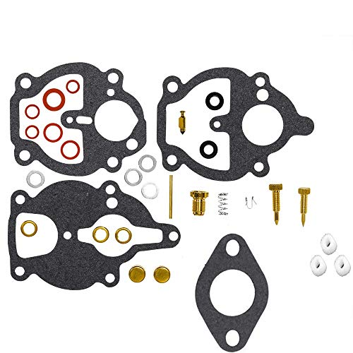 (CQYD New Carburetor Carb Rebuild Repair Kit for Zenith Carburetor 61 161 67 68 IH Farmall Wisconsin Allis Replace # K2112 K2111 K2106)