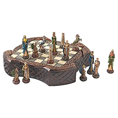 Design Toscano Legendary Celtic Warriors Chess Set and Board