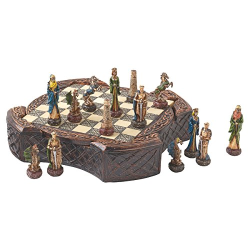 Design Toscano Legendary Celtic Warriors Chess Set and (Celtic Chess Board)