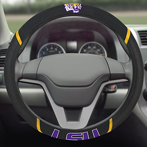 FANMATS NCAA Louisiana State University Tigers Polyester Steering Wheel Cover