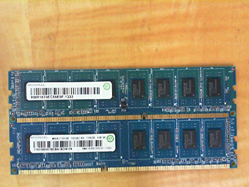 RAMAXEL RMR1870EC58E9F-1333 4GB DESKTOP DIMM DDR3 PC10600(1333) UNBUF 1.5v 2RX8 240P 512MX64 256mX8