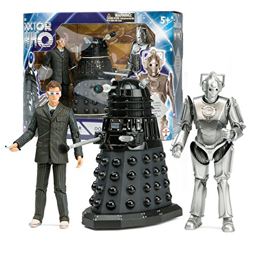 Underground Toys Doctor Who Doomsday Action Figure Box Set: 10th Dr, Dalek Sec, Cyberman (Dalek Action Figure)