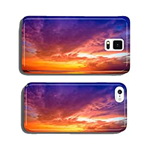 Sunset over Bali as seen from Gili island, Indonesia cell phone cover case Samsung S6