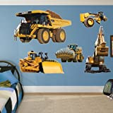 Fathead Wall Decal, Real Big, ''CAT Caterpillar Machines Collection''